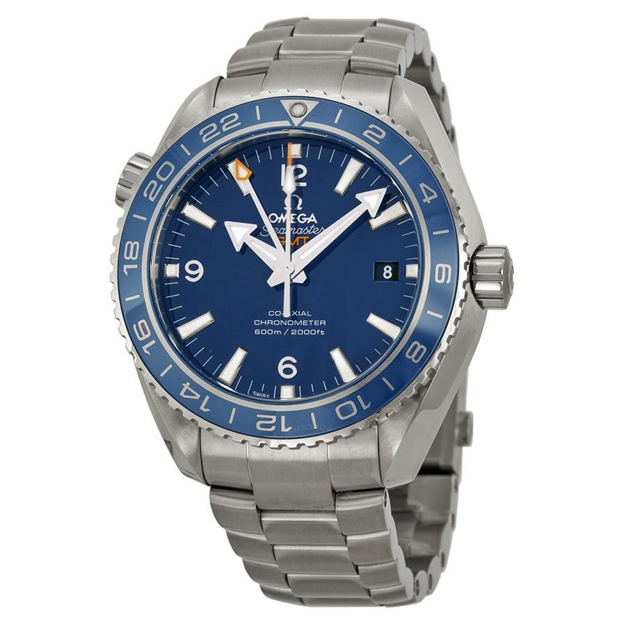 OmegaPlanet Ocean GMT Automatic 600M Blue Dial Titanium Men's Watch $5450 + free s/h