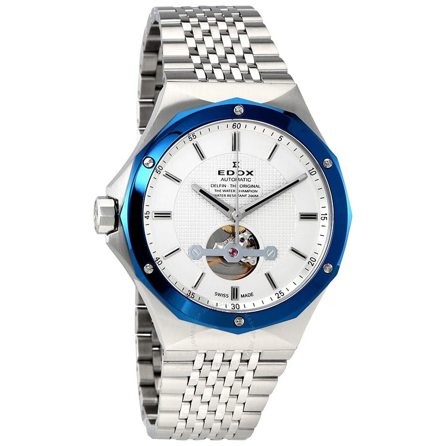 EDOX Delfin Open Heart Automatic Men's Watch $469 + free s/h