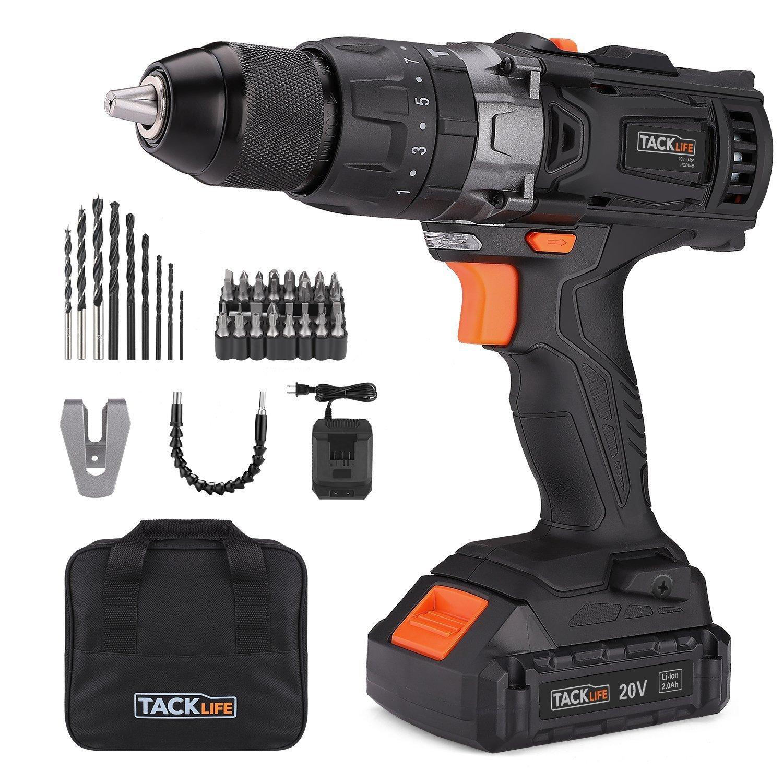 """Tacklife PCD04B 20V MAX 1/2"""" Cordless Hammer Drill Driver $59 + free s/h"""