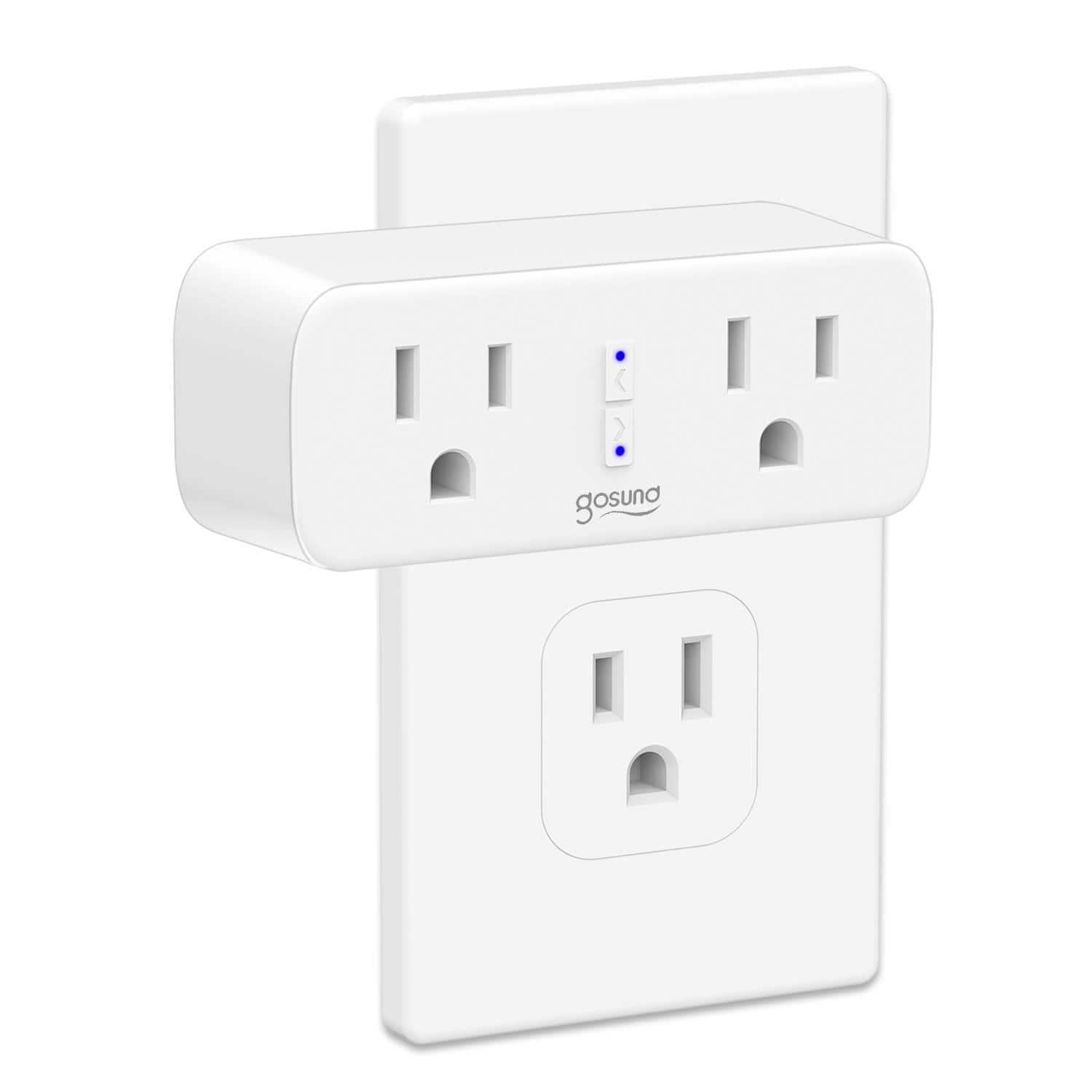 Gosund 2-in-1 (2 plugs) WiFi Smart Plugs w/ Power Tracking, Voice controls (Alexa, Google Home) $16.49 or 2-pack $30 + free s/h $16.5