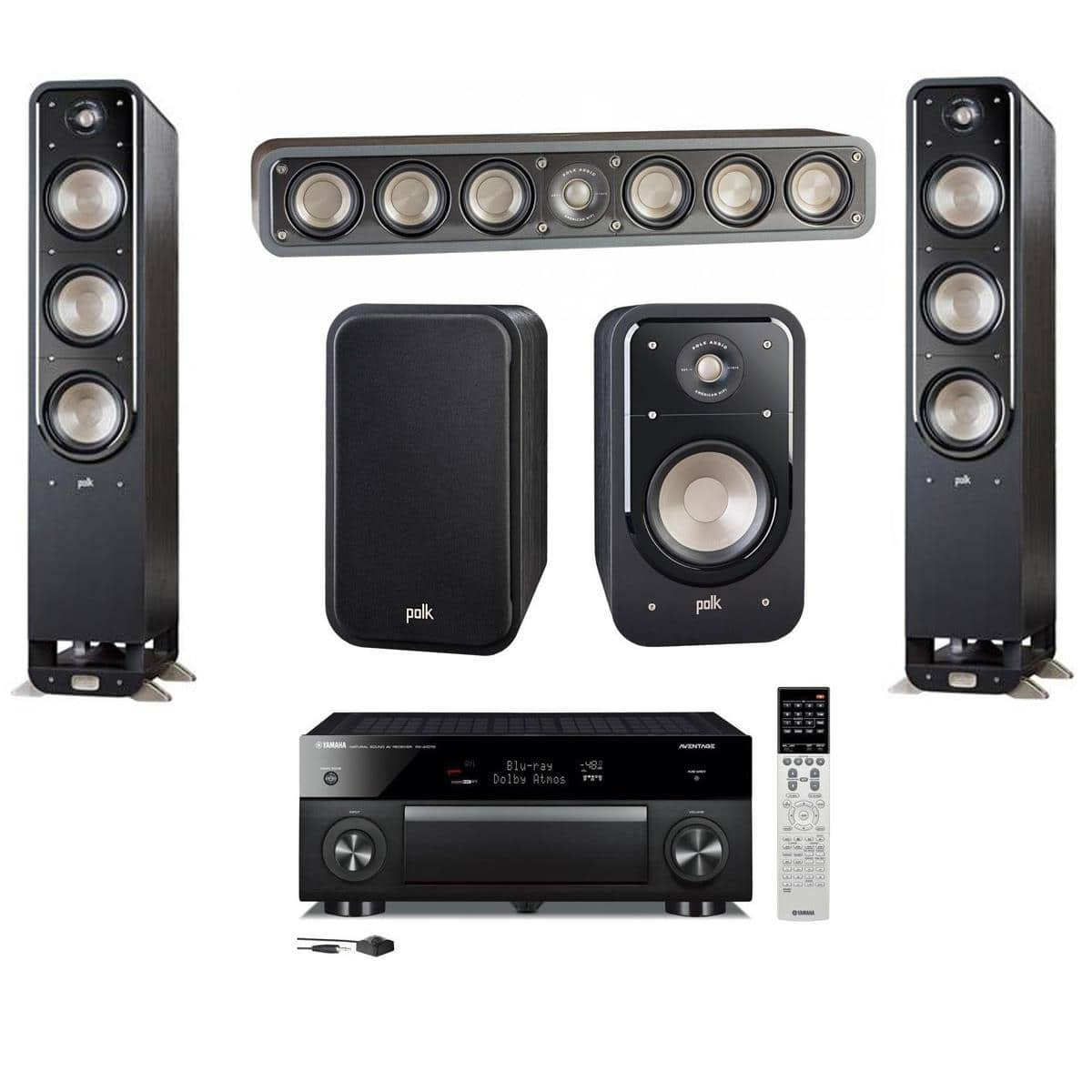 polk signature speakers yamaha rx a1070 receiver s60 pair s35 s20 pair 1400 free s. Black Bedroom Furniture Sets. Home Design Ideas