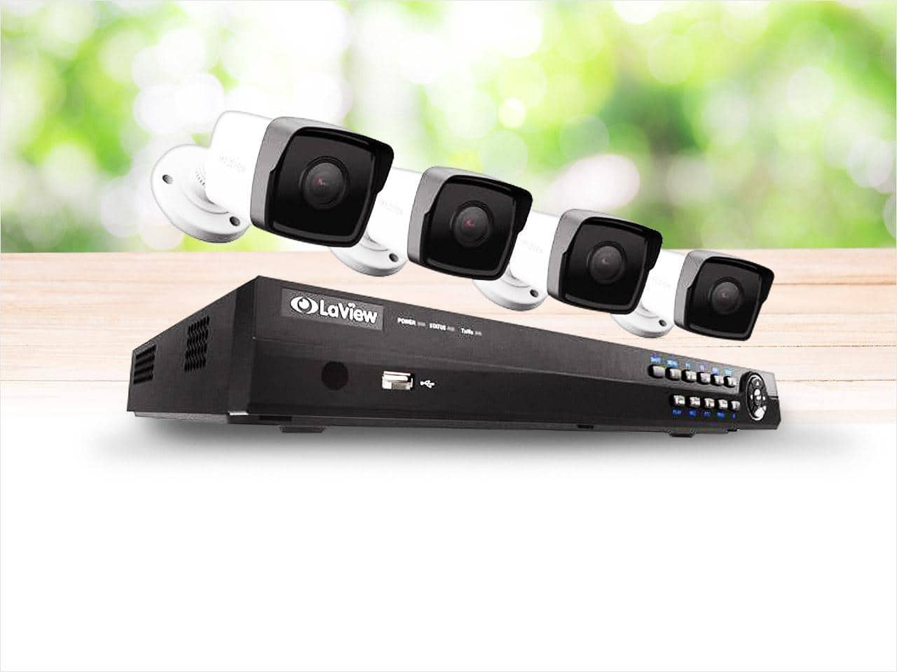 LaView 8Ch NVR 1080p H.264+ PoE IP Security Camera System w/ 4 HD 2MP Cameras $260 + free s/h