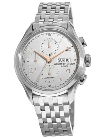 Baume & Mercier Clifton Automatic Chronograph Watch on Bracelet $1195 + free s/h