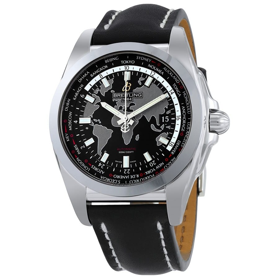 Breitling Galactic Unitime World Time Automatic Watch $3345 & More + free s/h