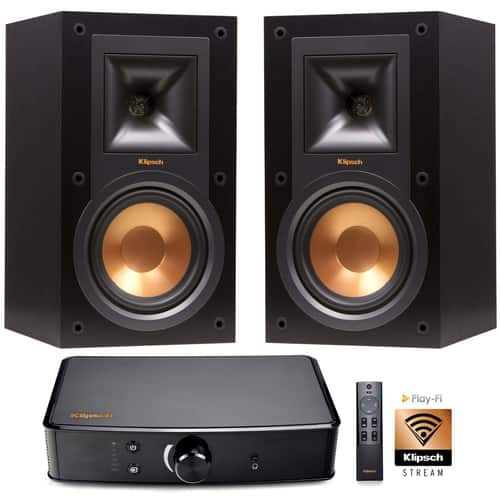 Klipsch R 15M Bookshelf Speaker PowerGate Amplifier PlayFi Wireless Gateway 349 Free S