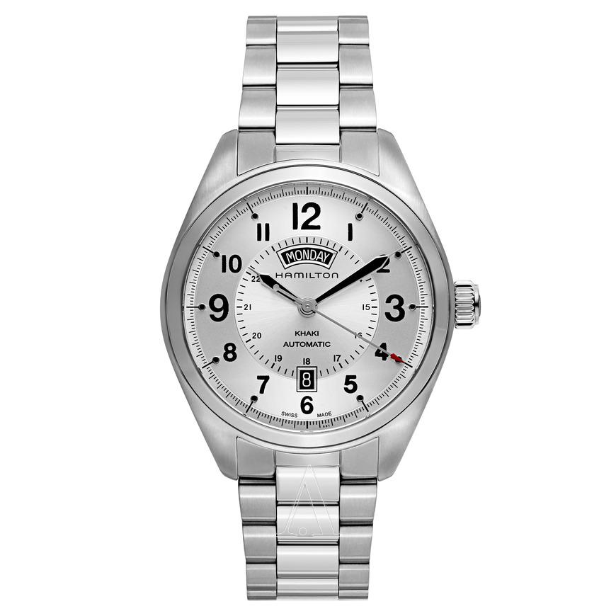 Hamilton Khaki Field Day Date Automatic Watch $375 + free s/h