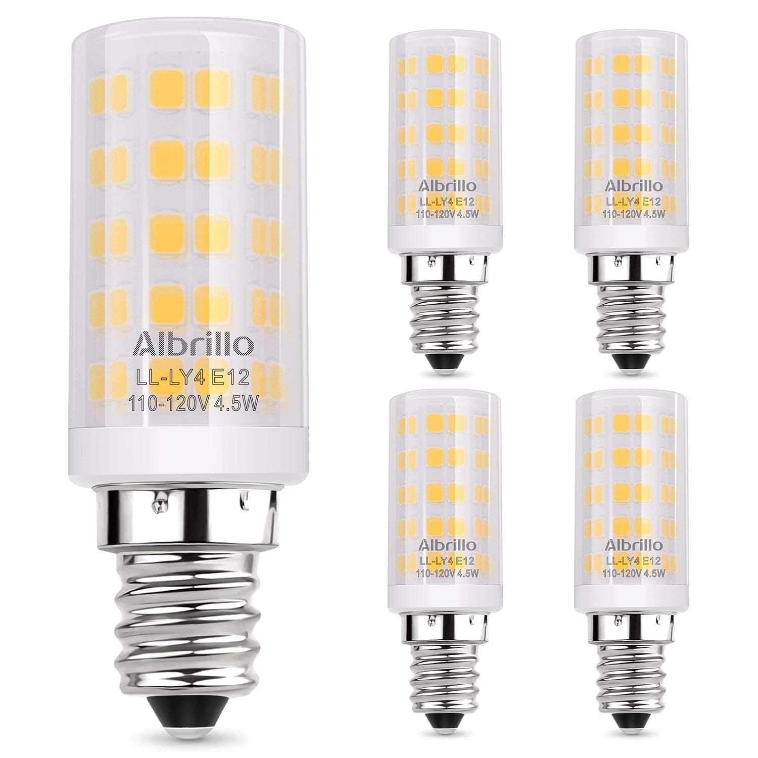 Albrillo E12 Candelabra LED Light Bulbs: 5-pack $7 or 3-pack Dimmable $5.50