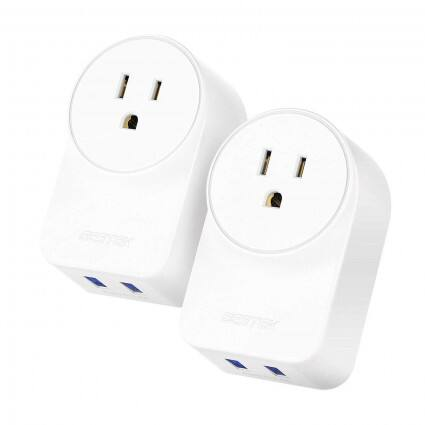 2-Pack Bestek Smart WiFi Plug w/ 2 USB Ports - Slickdeals net