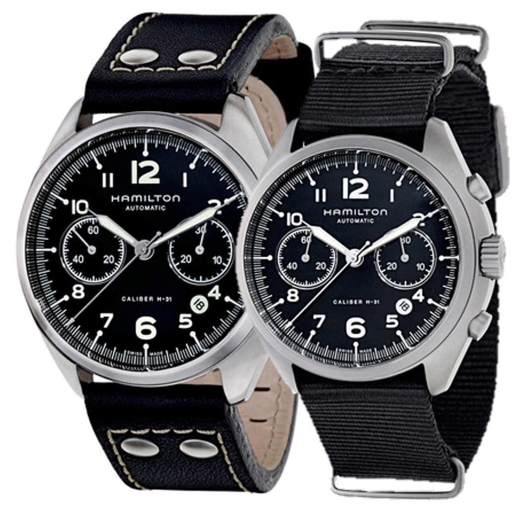 5f4303ae2 Hamilton Khaki Aviation Pilot Pioneer Auto Chrono Watch $699 + free s/h