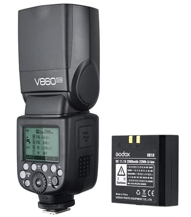 Godox V860II Speedlite Flash (nikon or canon) $114 + free s/h