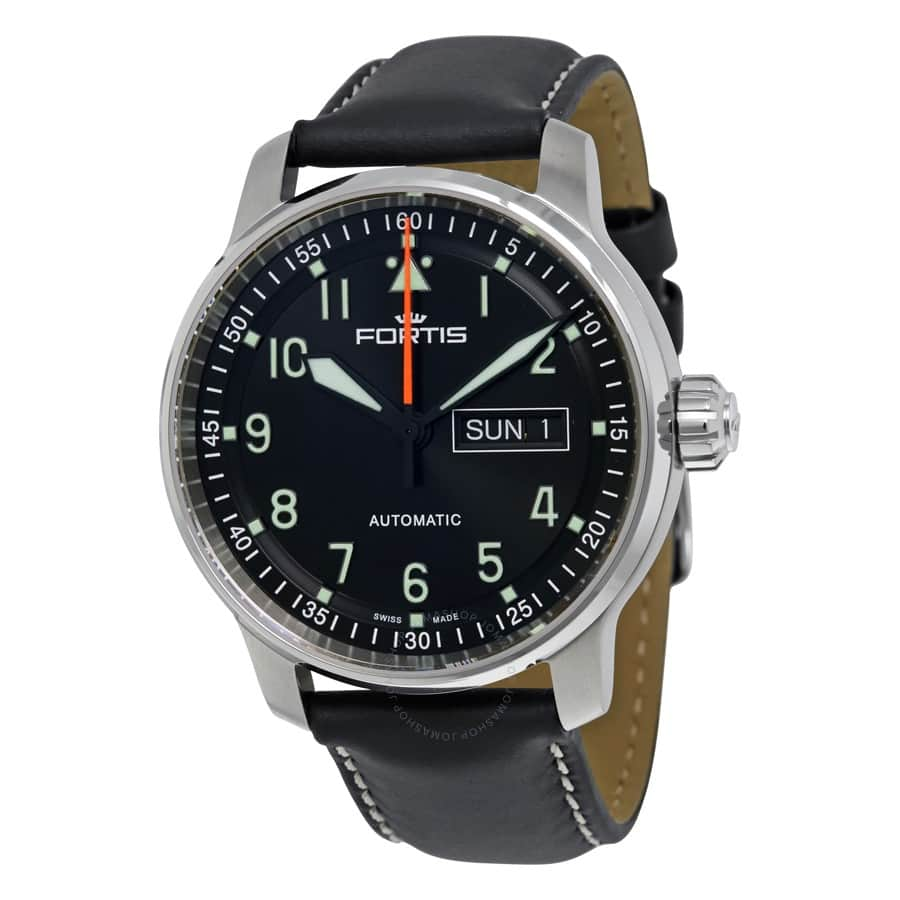 fortis flieger professional automatic watch 595 free s h