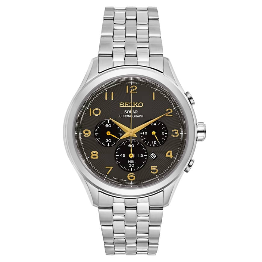 Seiko Men's Solar Powered Stainless Steel Chronograph Watch $109 + free s/h