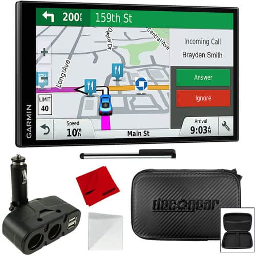 Garmin DriveSmart 61 NA LMT-S GPS (Refurbished) w/ Case