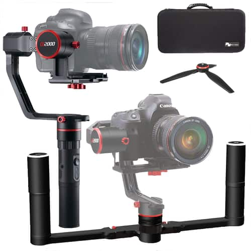 Feiyutech a2000 3 Axis Dual Handle Gimbal + Carry Case + $25 Buydig Gift Card $259 + free s/h