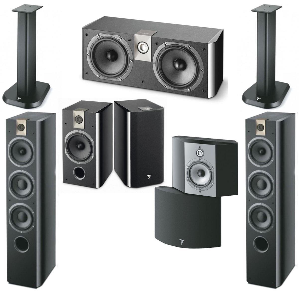 Focal 7-Speaker Bundles w/ Stands: Focal Chorus Bundle
