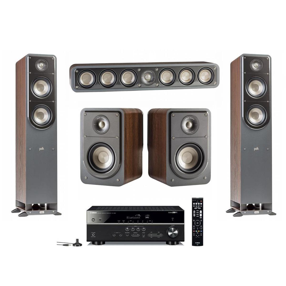 Polk Signature Speakers 2x S50 S35 S15 Yamaha RX V485 Receiver