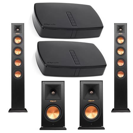 Klipsch Wireless: (pair) RP-440WF Floors + (pair) RP-140WM Bookshelves + (pair) RP-HUB1 Hubs $1199 + free s/h