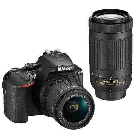 (refurb) Nikon D5600 DSLR Camera w/ AF-P 18-55mm + AF-P DX 70-300mm Lens $580 + free s/h