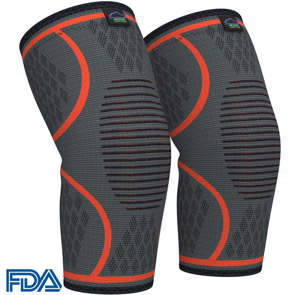 Modvel Athletic Knee Brace Support Compression Sleeves (Pair) $8