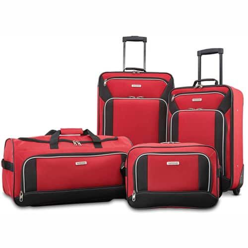 29704ed8a6f 4 Piece American Tourister Fieldbrook XLT Luggage Set - Slickdeals.net