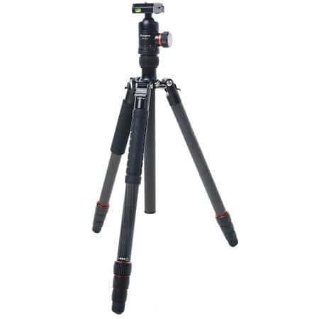 "67"" FotoPro X-Go Max 4-Section Carbon Fiber Tripod W/Monopod & FPH-62Q Ball Head (26 lbs Capacity) $169 + free s/h"