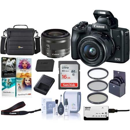 Canon Sale: M50 w/ 15-45mm STM Lens $599, M6 Body $479, M100 Lens Kit $399, 70EX-AI $199, EF-S 10-22mm $399, T7i + 18-55mm Lens + Rode Mic $749
