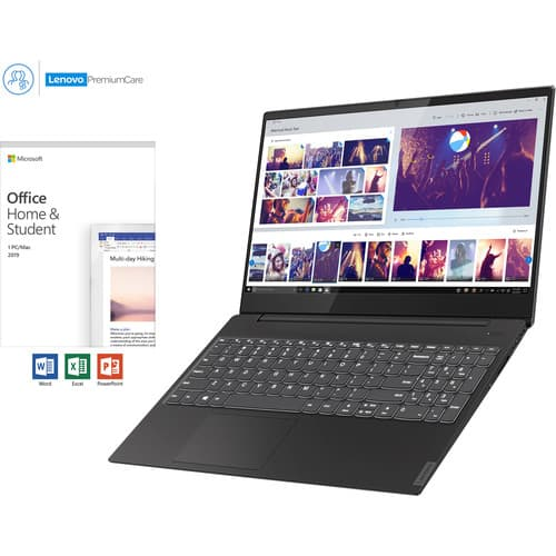 "Lenovo IdeaPad S340 Laptop + 2019 MS Office Student Ed.: i5-8265U, 12GB, 512GB SSD, 15.6"" 1080p, Win 10 $599 + free s/h"