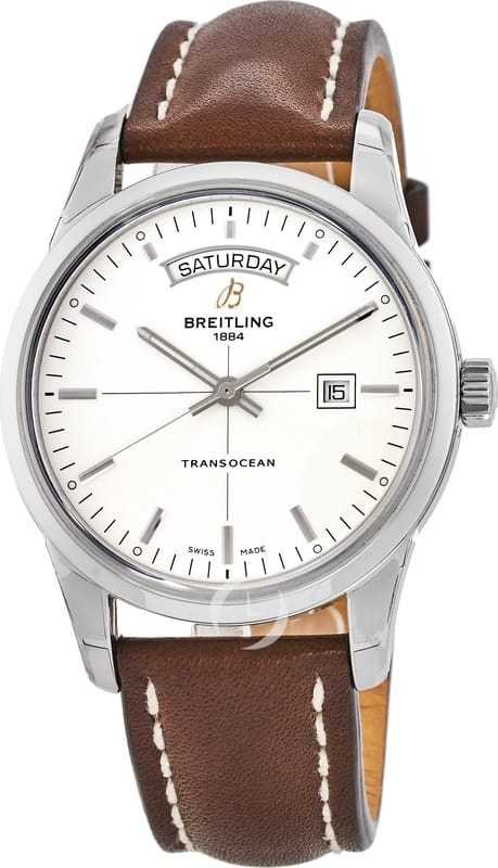 Breitling Transocean Day Date Automatic Watch $2695 + free s/h