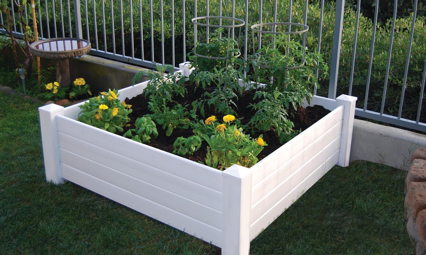 "Nuvue Raised Garden Bed Box (48""x48""x15"") $63 + free s/h"