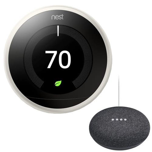 (auth dealer) Nest Learning Thermostat (3rd Gen) + Google Home Mini $199 + free s/h
