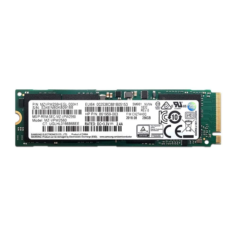 256GB Samsung SM961 M.2 2280 NVMe Solid State Drive $34.90 + Free Shipping