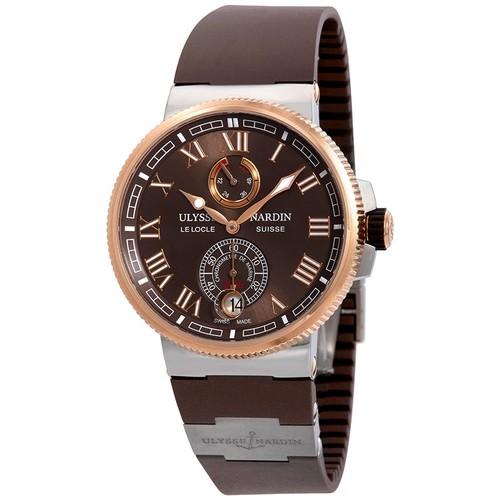 Ulysse Nardin Marine Chronometer 18k Rose Gold Automatic Watch $5495 + free s/h