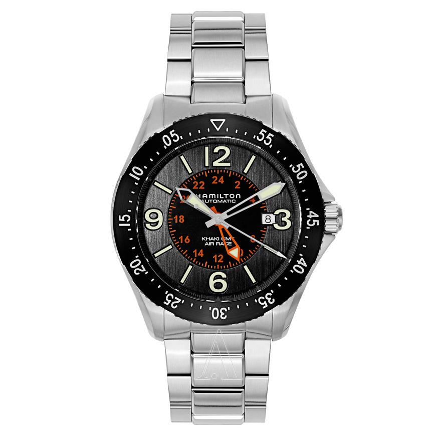 Hamilton Khaki Aviation Pilot GMT Automatic Watch on Bracelet $439 + free s/h