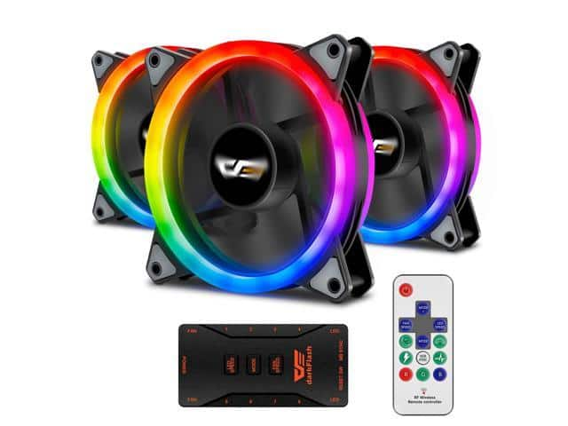 Aigo Aurora DR12 3-in-1 Case Fan Kit: 3 RGB LED 120mm Fans w/ Controller and Remote $23 + free s/h