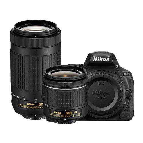 (refurb) Nikon D5600 24.2MP DSLR Camera + 18-55mm VR Lens & 70-300mm ED Lens $499 + free s/h