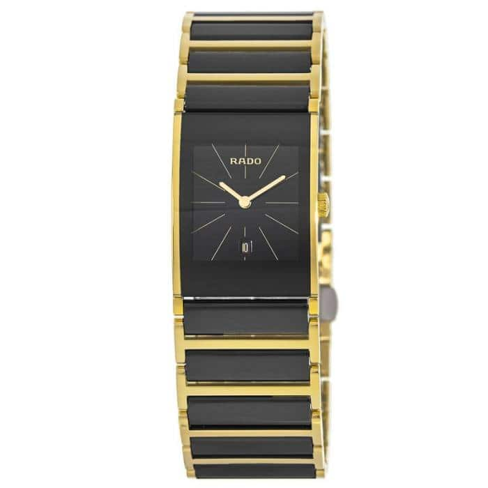 Rado Integral His and Hers Black Dial Yellow Gold Stainless Steel and Ceramic Watch: Ladies $325, Men's $399 + free s/h