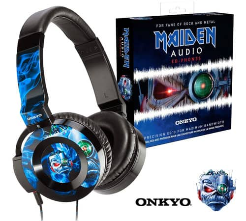 Onkyo ED-PH0N3S Iron Maiden On-Ear Headphones $79 + free s/h