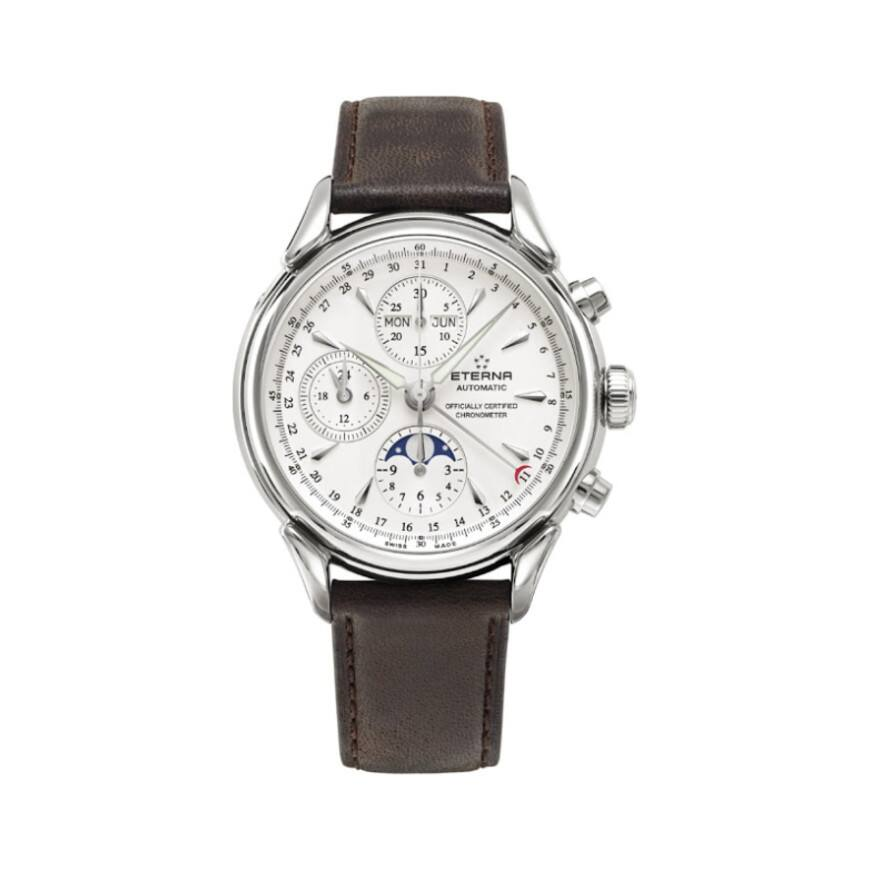 Eterna Heritage COSC Automatic Chronograph & Moonphase Watch $1299 + free s/h