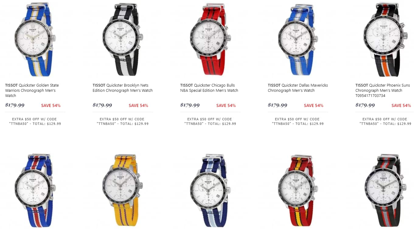 TissoT Quickster Chronograph Watch (NBA Teams) $130 each + free s/h