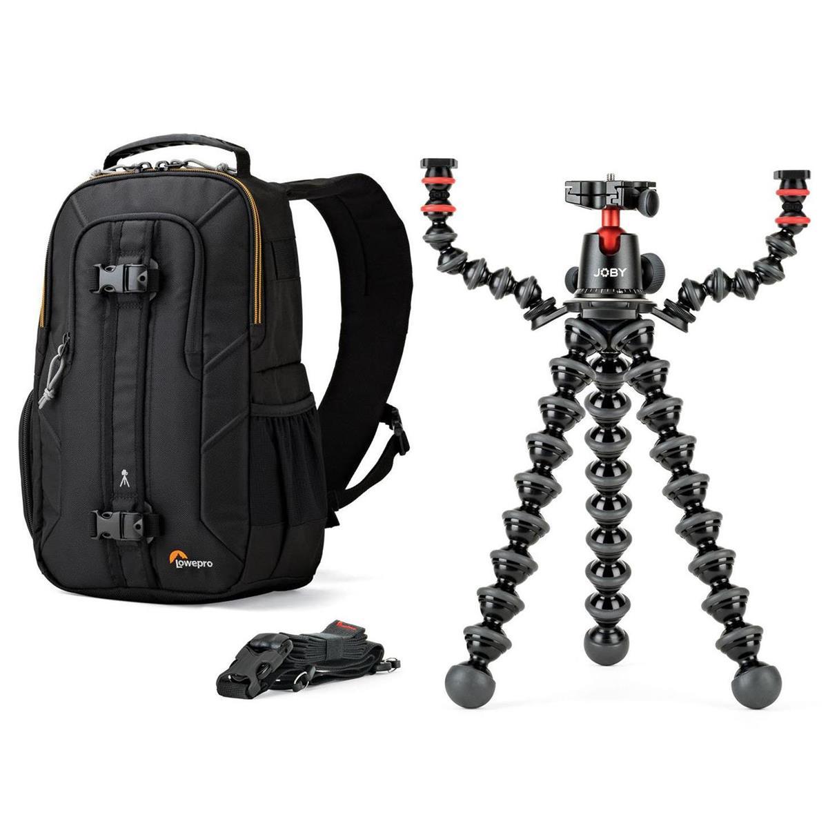 Joby GorillaPod 5K  w/ Additional Mic & Lights Arms + Lowepro Slingshot Edge 150 AW Backpack $110 + free s/h