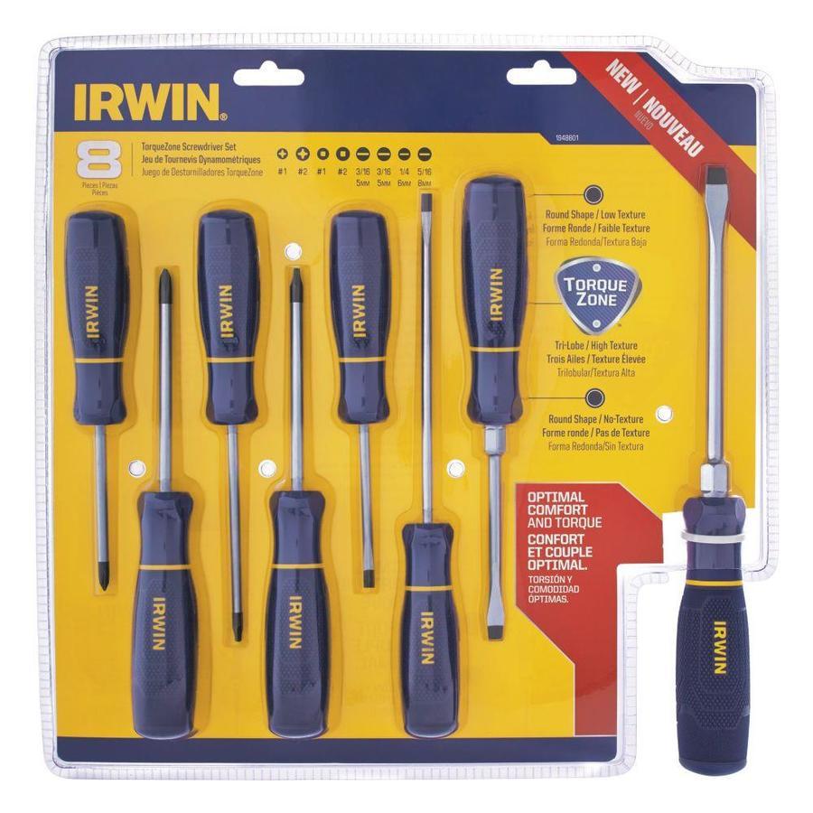 ymmv IRWIN 8-Piece Screwdriver Set $5 @ lowes