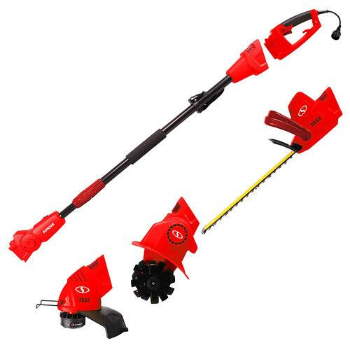 (refurb) Sun Joe GTS4000E Tool System: Tiller, Hedge Trimmer & String Trimmer $60 + free s/h