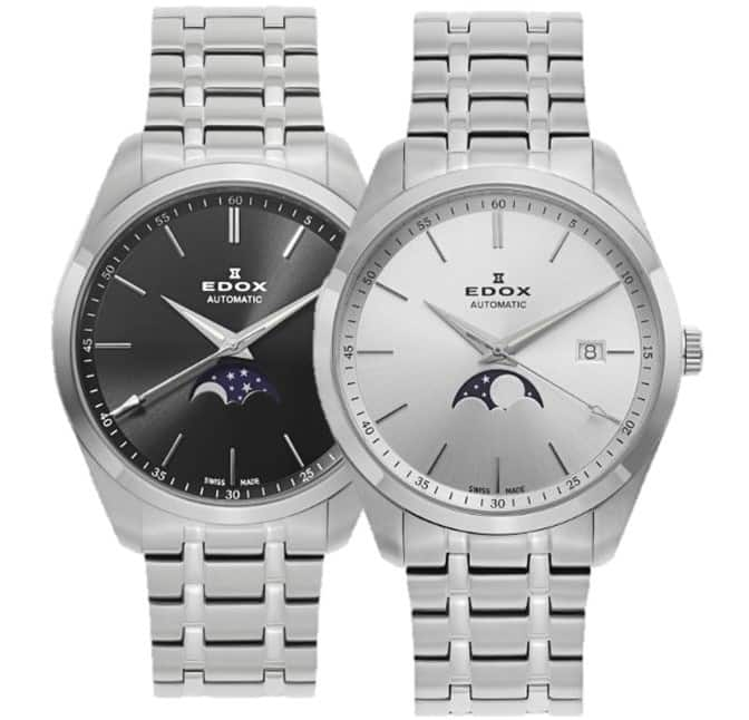 Edox Les Vauberts Automatic Moonphase Watch on Bracelet $299 + free s/h