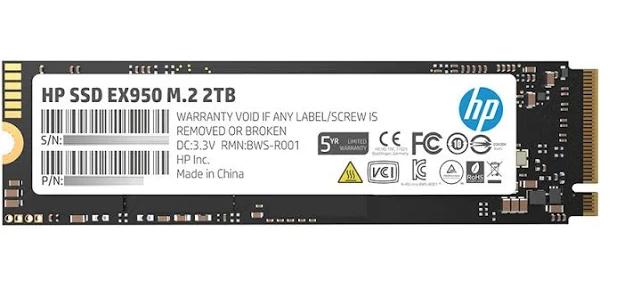 2TB HP EX950 M.2 PCIe NVMe SSD $233.72 + free s/h