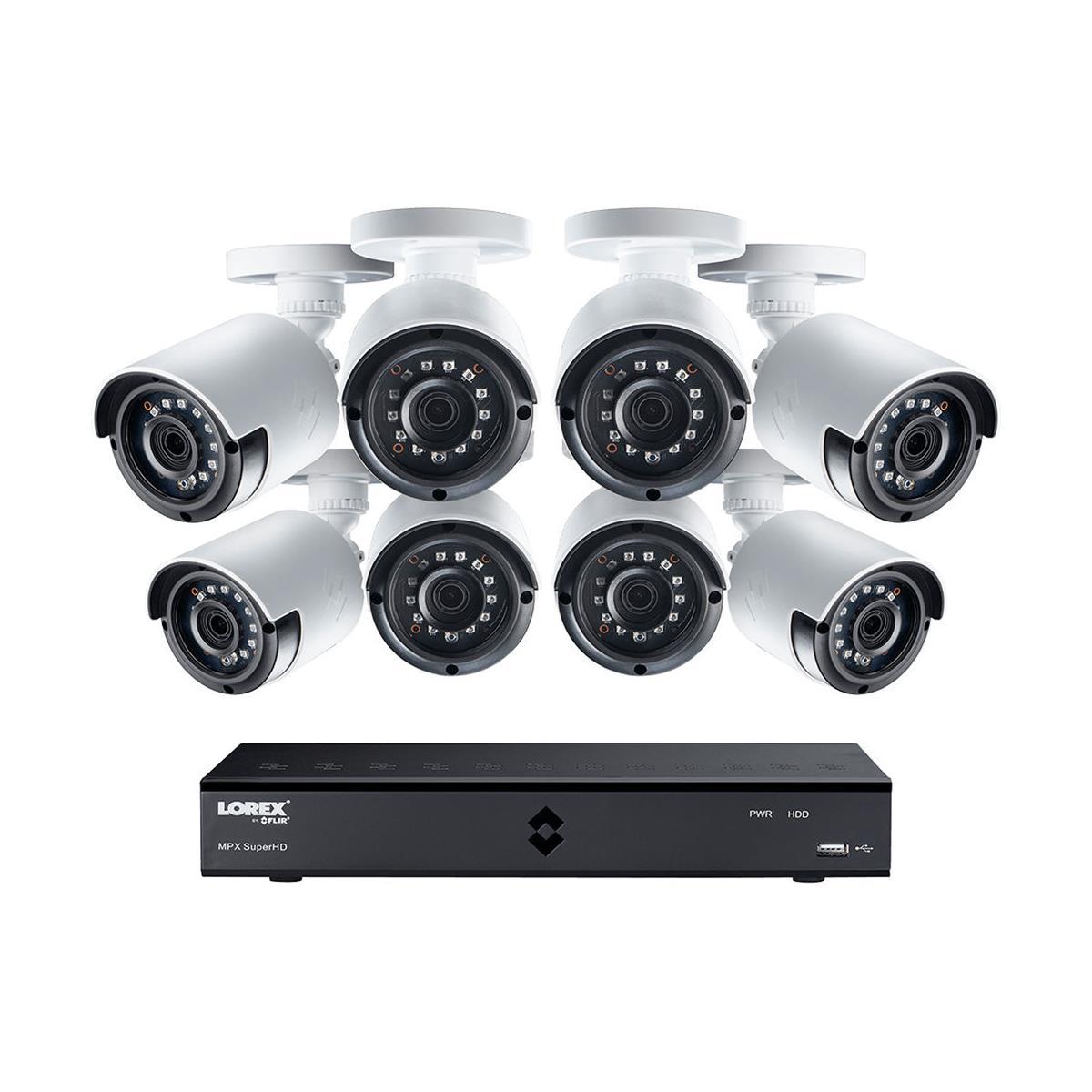 Lorex 16-Ch 2K Security System & 2TB DVR: 16  x 4MP Cameras $699, 12 Cameras $619,  or 8 Camera $499 + free s/h