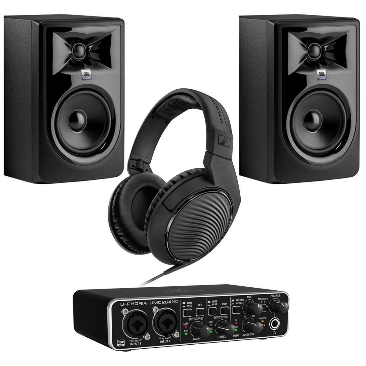 Pair of JBL 306P MkII Powered Speakers + Behringer U-Phoria UMC204HD + Sennheiser HD 200 PRO Headphones $299 + free s/h