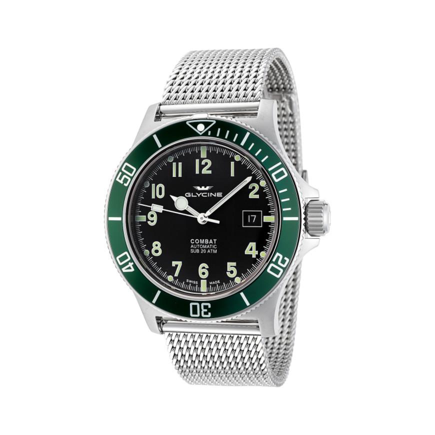 Glycine Combat Unisex Automatic Watch on Mesh Bracelet $329 + free s/h