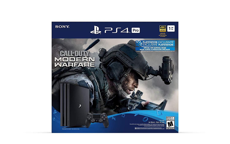 1TB Sony PS4 Pro Call of Duty: Modern Warfare Bundle $316 + free s/h