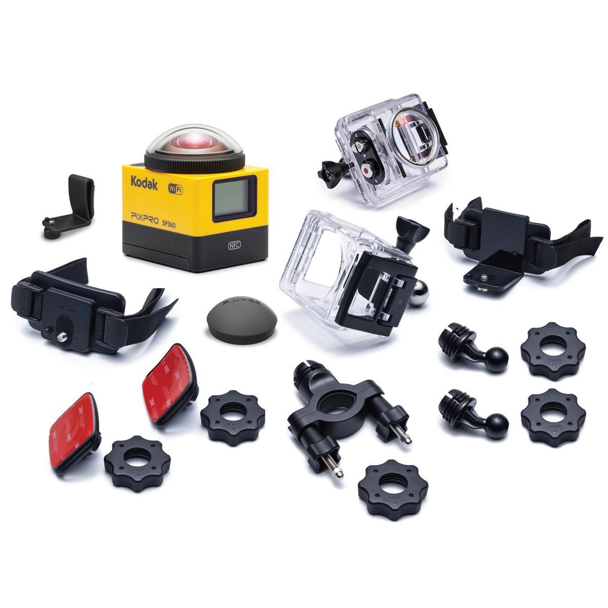 Kodak PIXPRO SP360 360 Degree VR Action Camera with Explorer Pack & Waterproof Housing Case $65 + free s/h