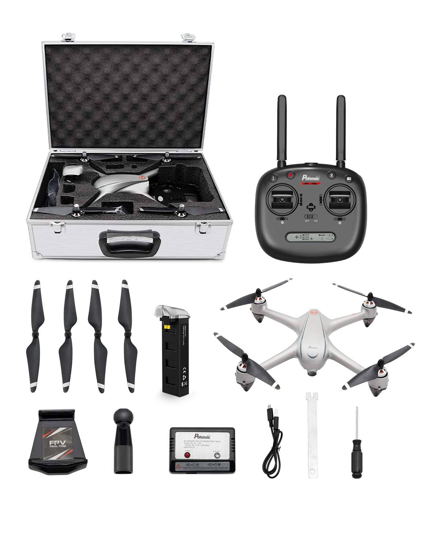 Potensic D80 Drone w/ 2K Camera, Auto Return Home, Follow Me, Aluminum Case & More $100 + free s/h